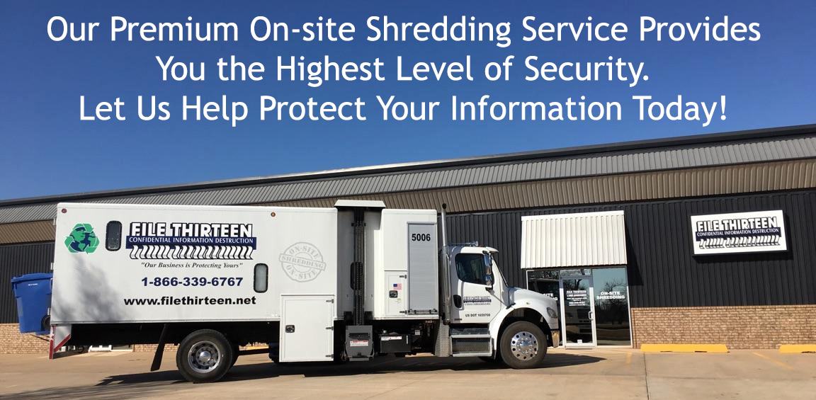 File Thirteen On-Site Shredding Truck